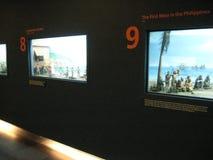 Tentoongestelde voorwerpen over de geschiedenis van de Filippijnen in Ayala museum, Makati stock fotografie