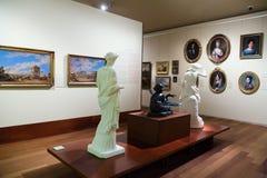 Tentoongestelde voorwerpen van San Telmo Museum in San Sebastian Royalty-vrije Stock Foto's