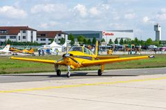 Tentoonstelling ILA Berlin Air Show 2018 stock foto