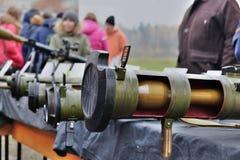 Tentoonstelling INTERPOLITEX 2016 Beschikbare granaatlanceerinrichting Stock Foto