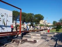 Tentoonstelling, Tirana, Albanië Stock Fotografie