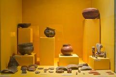 Tentoonstelling van Archeologisch Museum in Manabi Stock Foto's