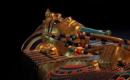 Tentoonstelling van de farao tutankamon stock afbeelding