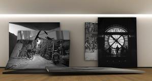 Tentoonstelling van fotografie royalty-vrije illustratie