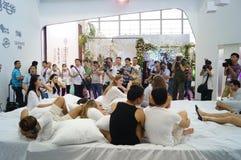 2015 Tentoonstelling van het het merkondergoed van China (Shenzhen) de internationale Stock Foto's