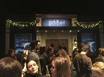 Tentoonstelling van het originele Harry Potter-filmmateriaal royalty-vrije stock fotografie