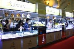Tentoonstelling van juwelen Royalty-vrije Stock Afbeelding