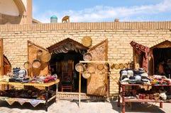 Tentoonstelling van met de hand gemaakt tijdens festival Arslar Sadosi in Ichan-Ka Stock Afbeeldingen