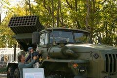 Tentoonstelling van militaire technologie Stock Afbeelding
