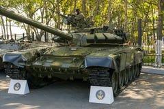 Tentoonstelling van militaire technologie Stock Foto's