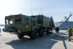 Tentoonstelling van militaire technologie Royalty-vrije Stock Foto's