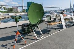 Tentoonstelling van militaire technologie Royalty-vrije Stock Afbeelding