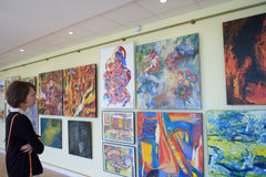 tentoonstelling van modern art. Stock Afbeelding