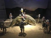 Tentoonstelling van origineel materiaal van Star Wars-collector in Madrid stock afbeeldingen