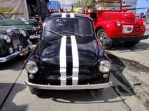 Tentoonstelling van retro auto's Zaporozhets zaz-965 vanaf 1960 tot 1969 wordt geproduceerd die Merk van Sovjet en Oekraïense ach stock foto