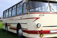 Tentoonstelling van retro bussen royalty-vrije stock afbeeldingen