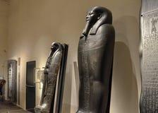 Tentoonstelling van sarcophag stock afbeelding