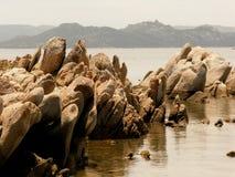 Tentoonstelling van Sardische rotsen B Stock Afbeeldingen