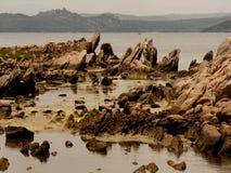 Tentoonstelling van Sardische rotsen c Stock Foto's