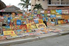 Tentoonstelling van schilderijen voor verkoopdominicaanse republiek Stock Fotografie
