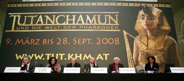 Tentoonstelling van Tutankhamun royalty-vrije stock afbeeldingen
