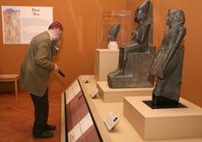 Tentoonstelling van Tutankhamun stock foto's