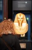 Tentoonstelling van Tutankhamun stock afbeeldingen