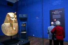 Tentoonstelling van Tutankhamun royalty-vrije stock foto