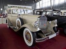 Tentoonstelling van uitstekende auto's in Sokolniki-Park Royalty-vrije Stock Afbeelding