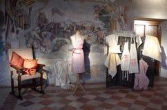 Tentoonstelling van uitstekende kleren Royalty-vrije Stock Afbeelding