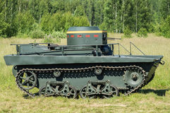 Tentoonstelling van uitstekende militaire uitrusting in het Kaluga-gebied in Rusland op 26 Juni 2016 Royalty-vrije Stock Foto