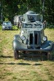 Tentoonstelling van uitstekende militaire uitrusting in het Kaluga-gebied in Rusland op 26 Juni 2016 Stock Fotografie