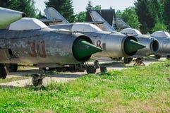 Tentoonstelling van uitstekende militaire uitrusting in het Kaluga-gebied in Rusland op 26 Juni 2016 Stock Foto