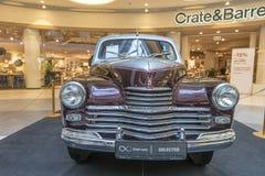 Tentoonstelling van zeldzame auto's van 40-70 jaren geleden van de 20ste eeuw Royalty-vrije Stock Fotografie