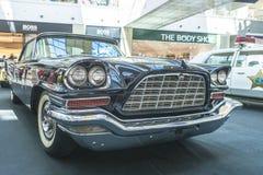 Tentoonstelling van zeldzame auto's van 40-70 jaren geleden van de 20ste eeuw Royalty-vrije Stock Foto