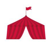 Tentpictogram Circus en Carnaval-ontwerp Grafische vector vector illustratie