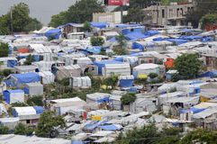 The Tents. PORT-AU-PRINCE - AUGUST 28: An huge amount of area of the capital of Haiti is occupied by Tents on August 28, 2010 in Port-Au-Prince, Haiti Stock Photography