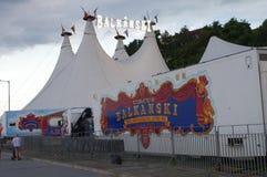 Tents Balkanski circus in Bulgaria Royalty Free Stock Image