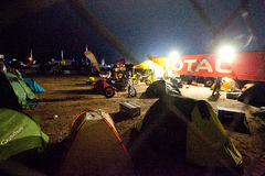 Tents and bikes Royalty Free Stock Images