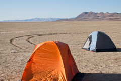Tents on the Black Rock Desert Stock Image