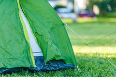 Tents Camping area in beautiful natural place Royalty Free Stock Photos