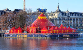 Tents of the Circus Conelli in Zurich, Switzerland Royalty Free Stock Images