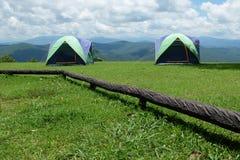 Tents couple on grass Stock Photos