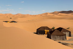Tents in the desert Stock Images