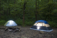 Tents at dusk Royalty Free Stock Images