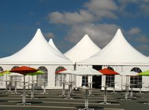 Tents for a event Stock Image