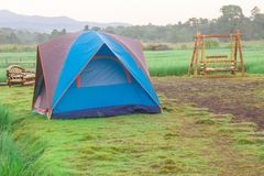 Tents in a field Stock Image