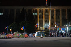 Tents in front of Moldova chisinau Stock Photos