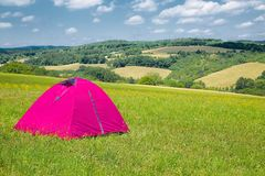 Tents on grass Stock Photography