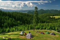Tents In Mountain Stock Photos